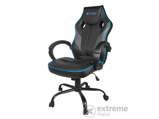 Silverstone textilbőr gamer irodai forgószék, fekete kék