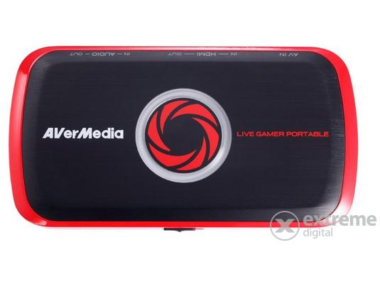 AverMedia Digitalizáló C875 Live Gamer Portable (HDMI IN-OUT, AV IN, AUDIO IN-OUT, SD kártya, USB 2.0)