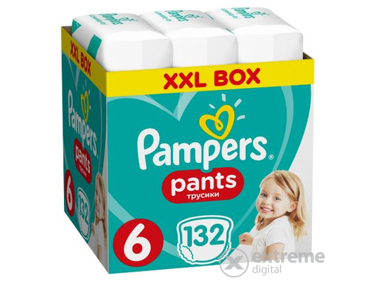 Pampers Pants bugyipelenka, Méret: 6, 132 db