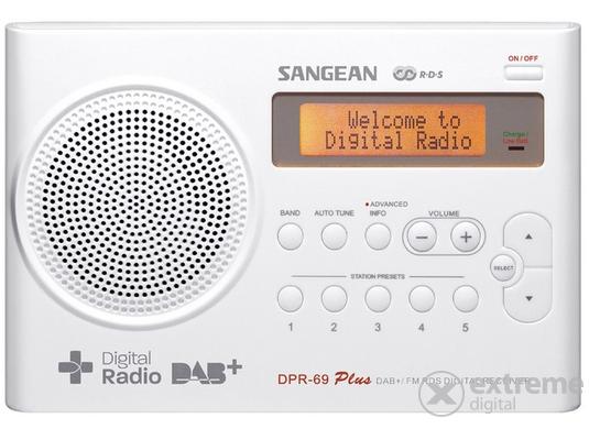Sangean DPR-69+ W hordozható táskarádió 180ad2ff5e