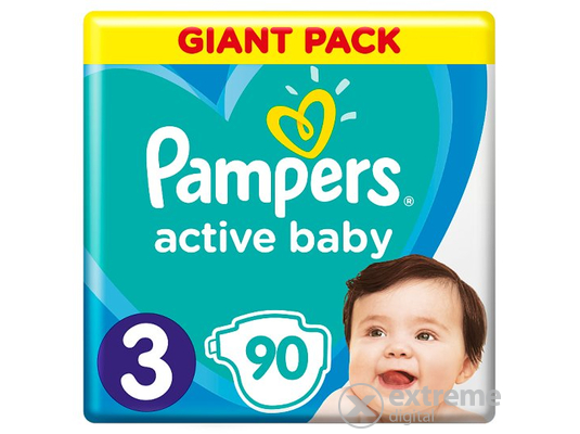 Pampers Active Baby Giant Pack pelenka, 3-as méret, 90 db