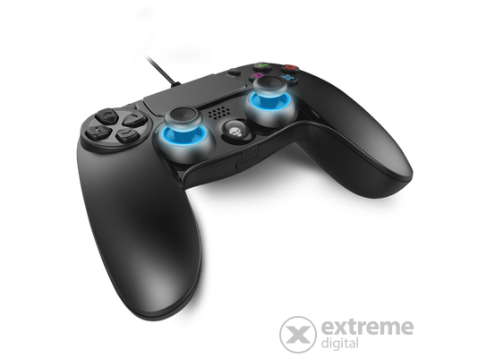 Spirit of Gamer XGP WIRED PS4 gamepad PC és PS4 kompatibilis, fekete-kék